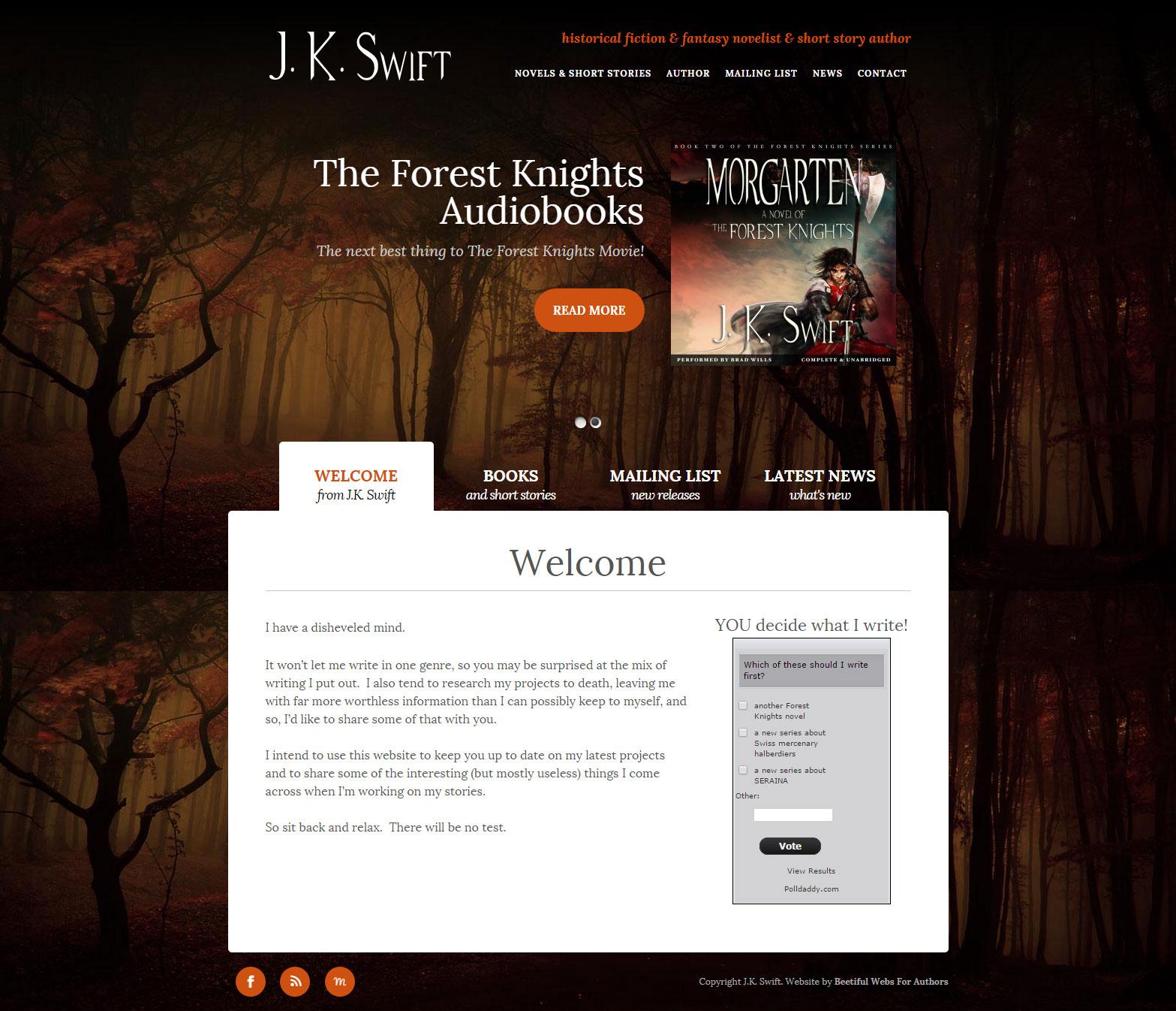J.K. Swift website (jkswift.com)