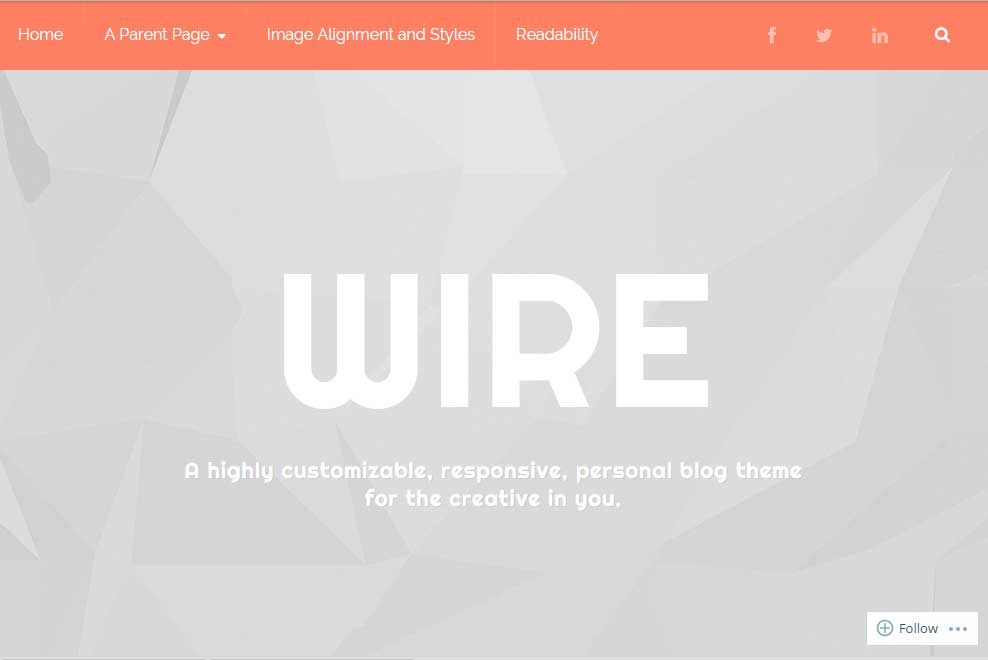 Wire theme